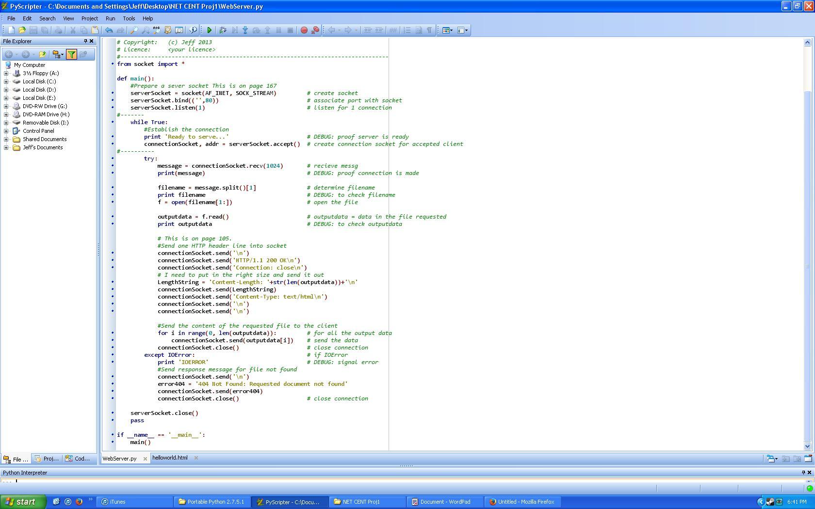 Net Cent Assignment 1: Web Server | Technical Ecstasy